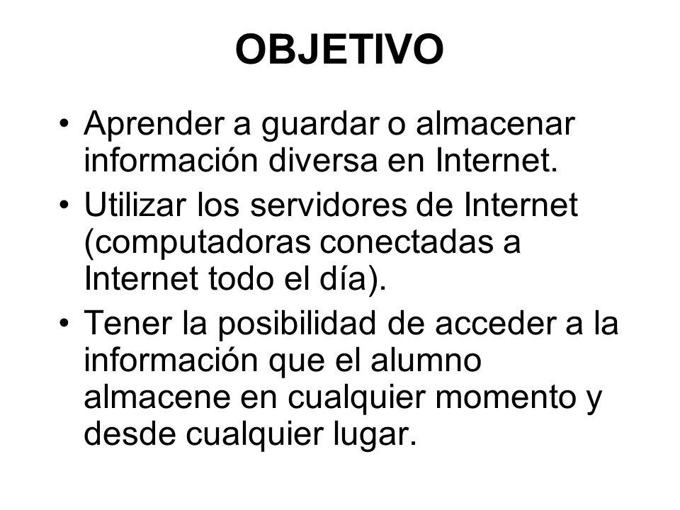 Existen computadoras que siempre están conectadas a Internet y donde se almacenan la información diversa.