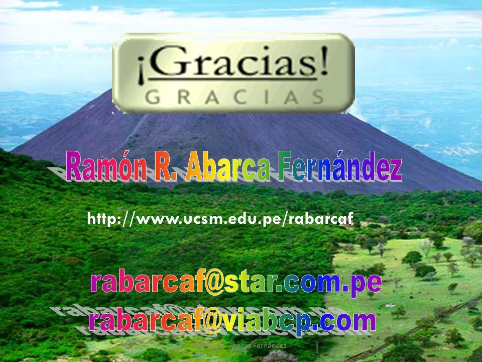 http://www.ucsm.edu.pe/rabarcaf Ramón R. Abarca Fernández18