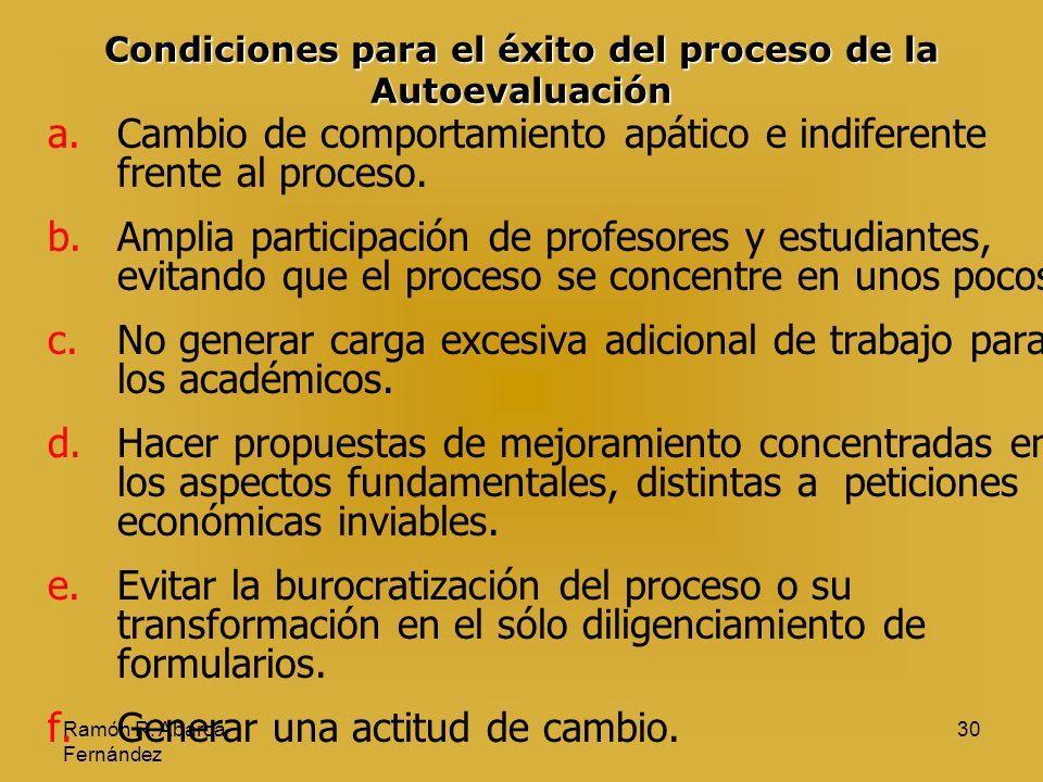 Ramón R. Abarca Fernández 30 a.Cambio de comportamiento apático e indiferente frente al proceso. b.Amplia participación de profesores y estudiantes, e