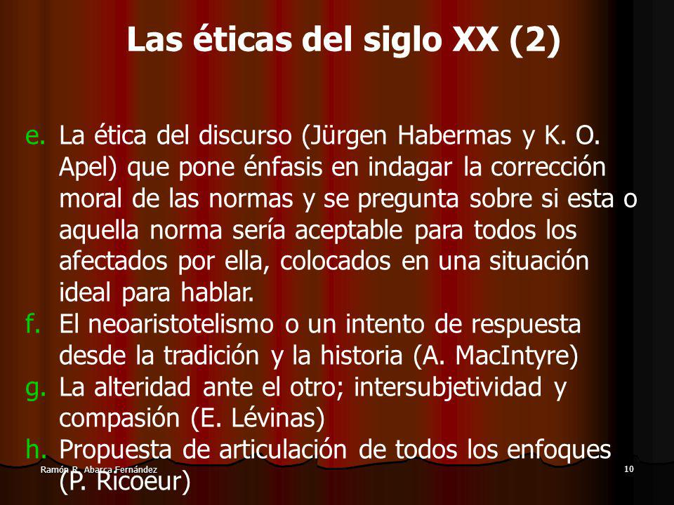 10 Ramón R.Abarca Fernández e.La ética del discurso (Jürgen Habermas y K.