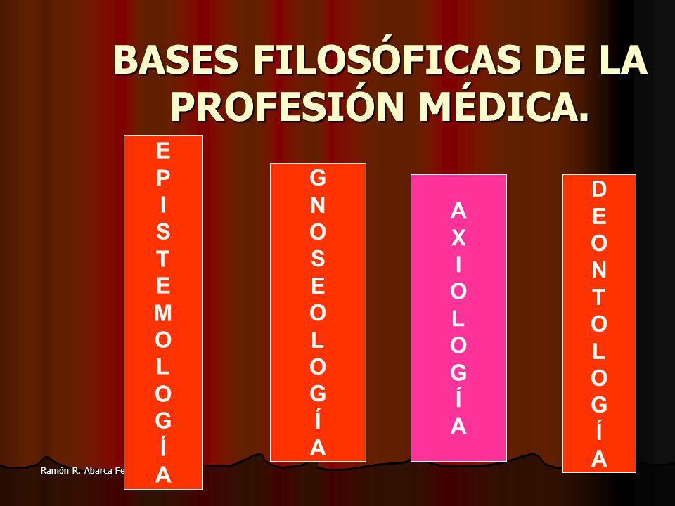 3 Ramón R.Abarca Fernández BASES FILOSÓFICAS DE LA PROFESIÓN MÉDICA.