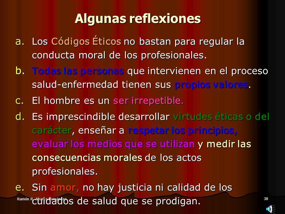 38 Ramón R.Abarca Fernández Algunas reflexiones a.