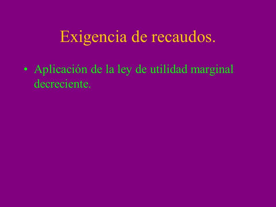 Exigencia de recaudos. Aplicación de la ley de utilidad marginal decreciente.