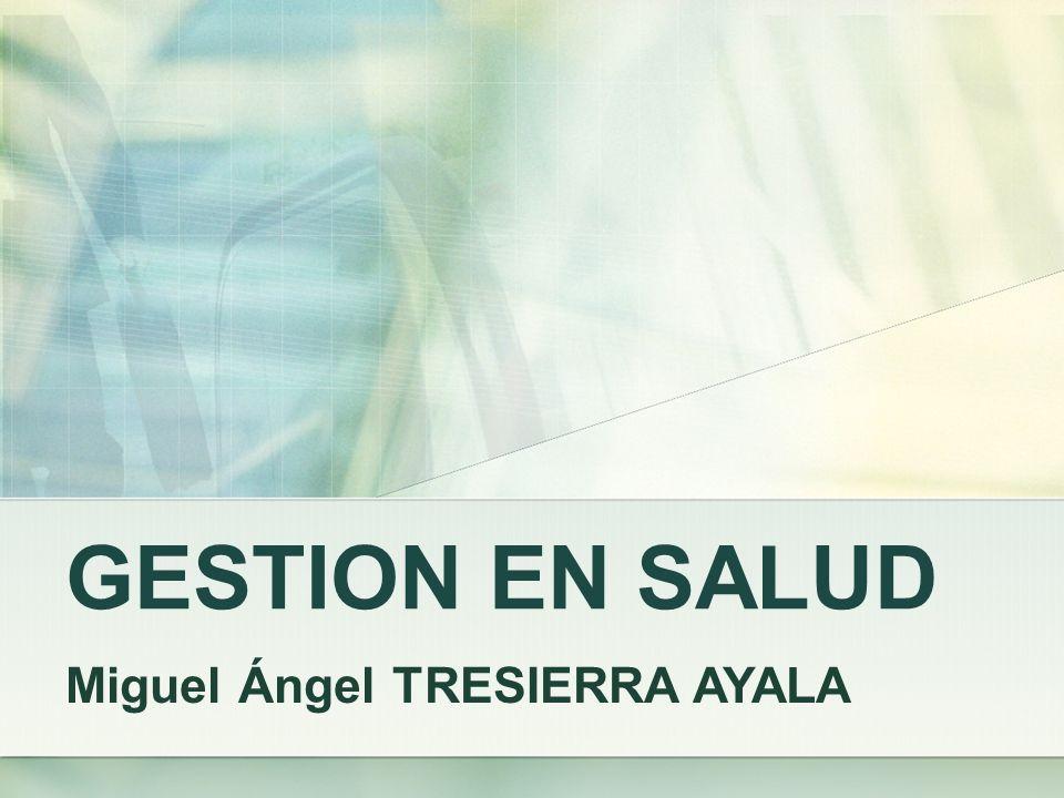 GESTION EN SALUD Miguel Ángel TRESIERRA AYALA