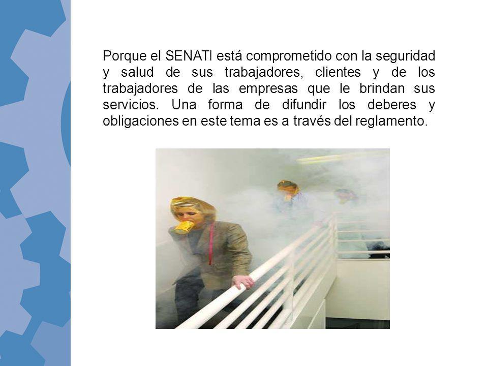 Porque el SENATI está comprometido con la seguridad y salud de sus trabajadores, clientes y de los trabajadores de las empresas que le brindan sus ser