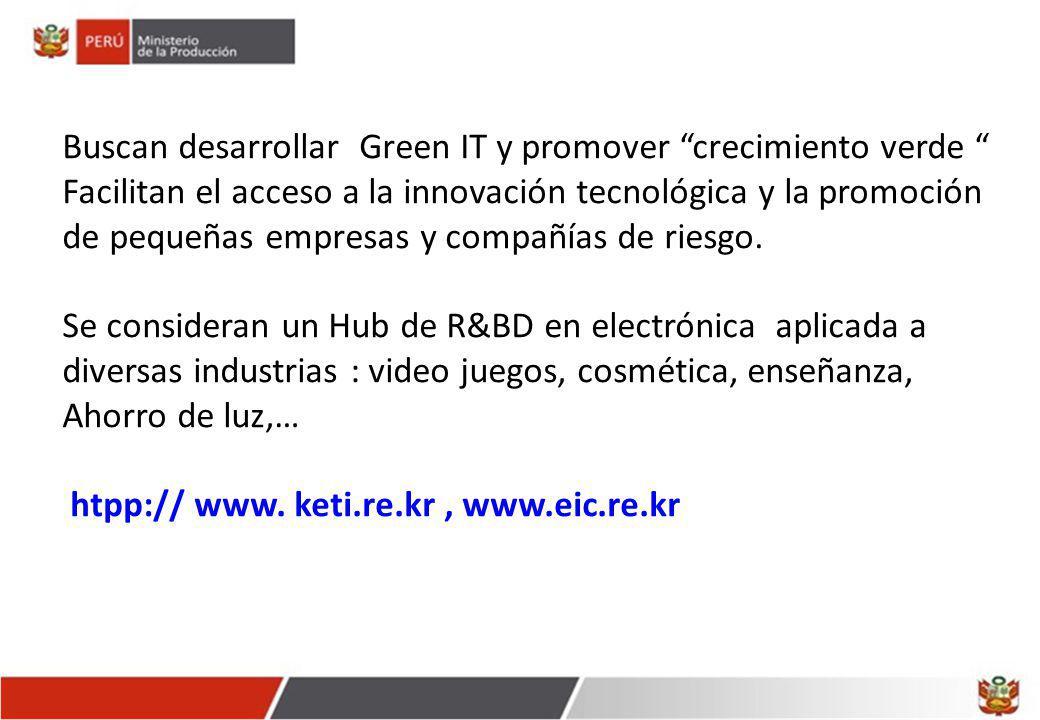 Buscan desarrollar Green IT y promover crecimiento verde Facilitan el acceso a la innovación tecnológica y la promoción de pequeñas empresas y compañí