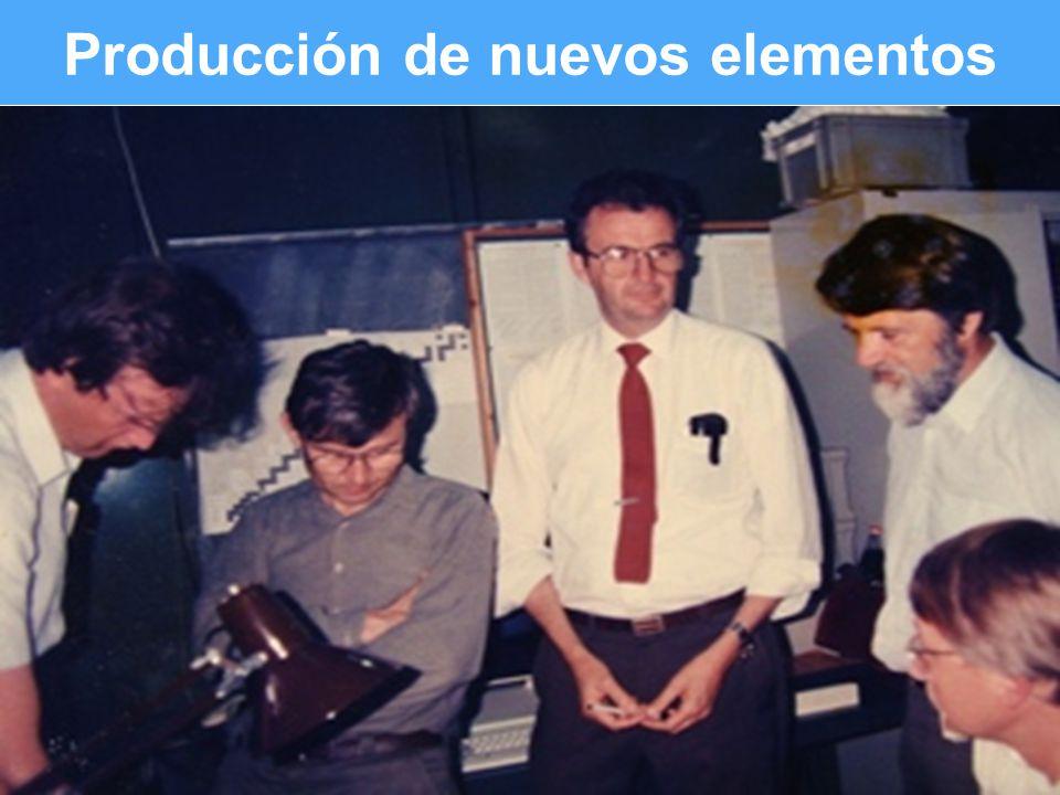 Slide 5 of # Producción de nuevos elementos