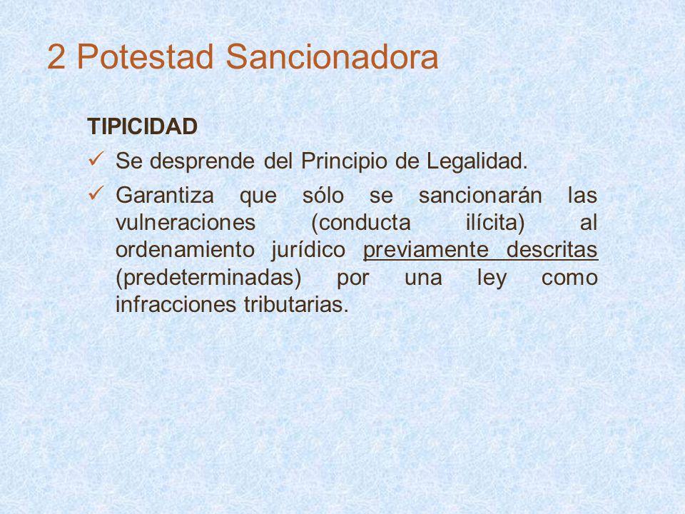 TIPICIDAD Se desprende del Principio de Legalidad. Garantiza que sólo se sancionarán las vulneraciones (conducta ilícita) al ordenamiento jurídico pre