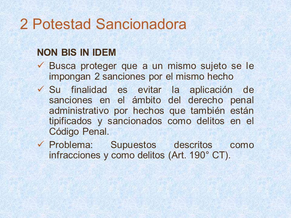 NON BIS IN IDEM Busca proteger que a un mismo sujeto se le impongan 2 sanciones por el mismo hecho Su finalidad es evitar la aplicación de sanciones e