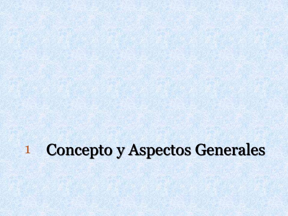 Concepto y Aspectos Generales 1