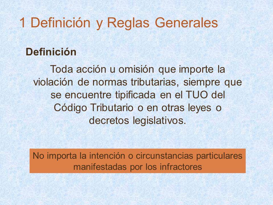 Definición No importa la intención o circunstancias particulares manifestadas por los infractores Toda acción u omisión que importe la violación de no