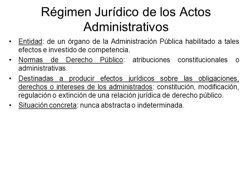 Régimen Jurídico de los Actos Administrativos Entidad: de un órgano de la Administración Pública habilitado a tales efectos e investido de competencia
