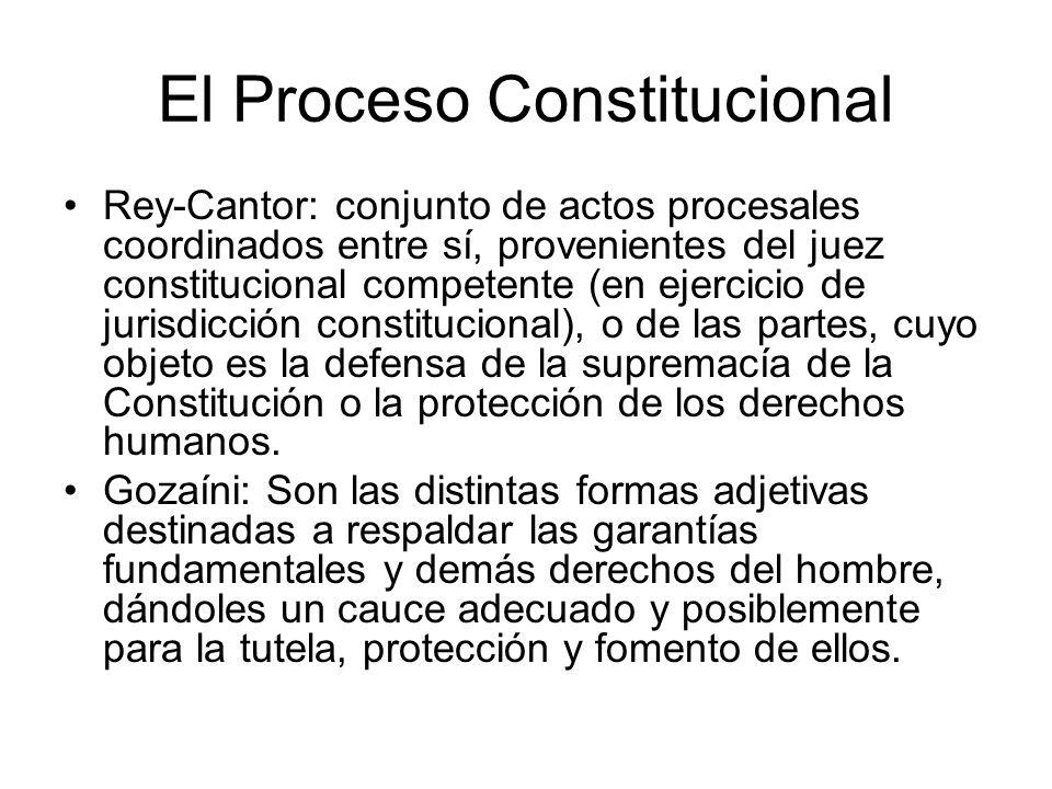 El Proceso Constitucional Rey-Cantor: conjunto de actos procesales coordinados entre sí, provenientes del juez constitucional competente (en ejercicio
