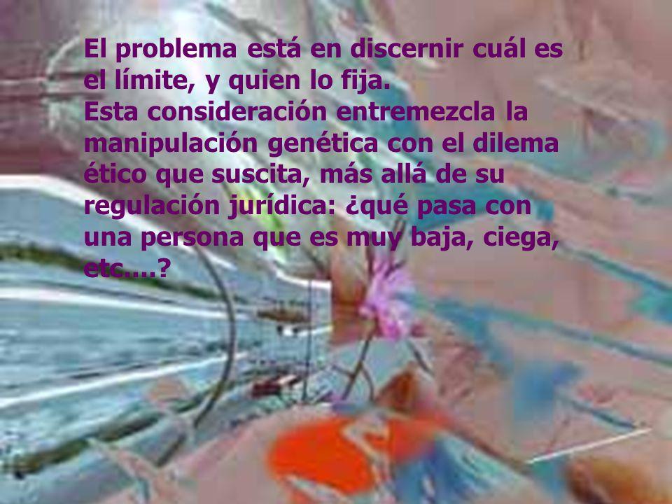 7 Ramón R. Abarca Fernández MANIPULACIÓN GENÉTICA ¿ Dónde está la frontera entre el bien y el mal ? ¿ Dónde está la frontera entre el bien y el mal ?