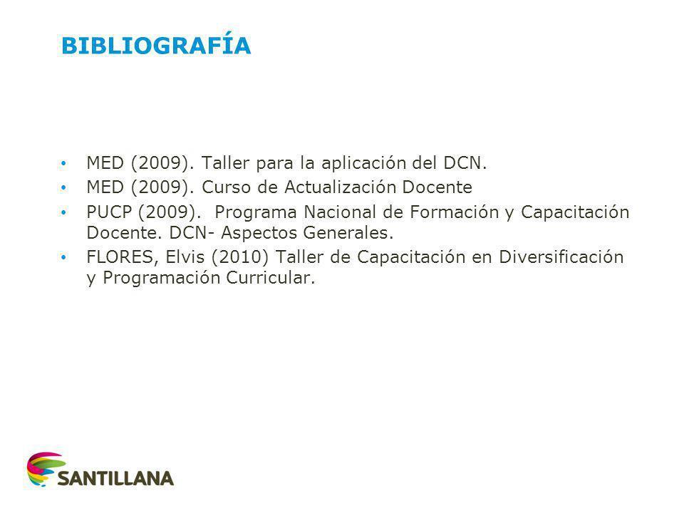 BIBLIOGRAFÍA MED (2009).Taller para la aplicación del DCN.