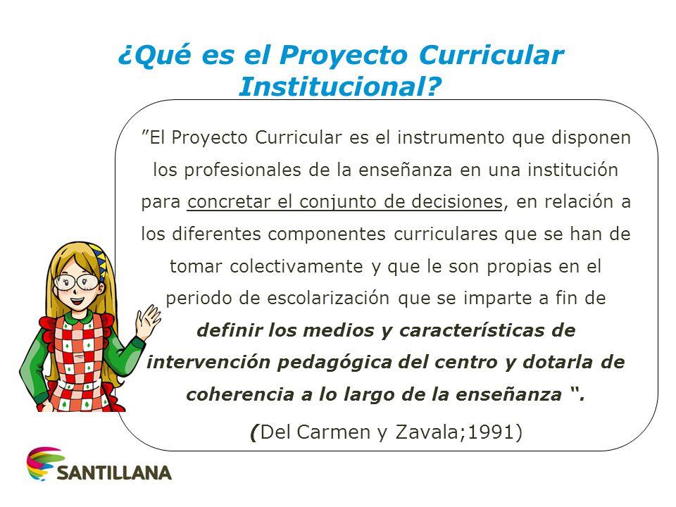 El Proyecto Curricular es el instrumento que disponen los profesionales de la enseñanza en una institución para concretar el conjunto de decisiones, e