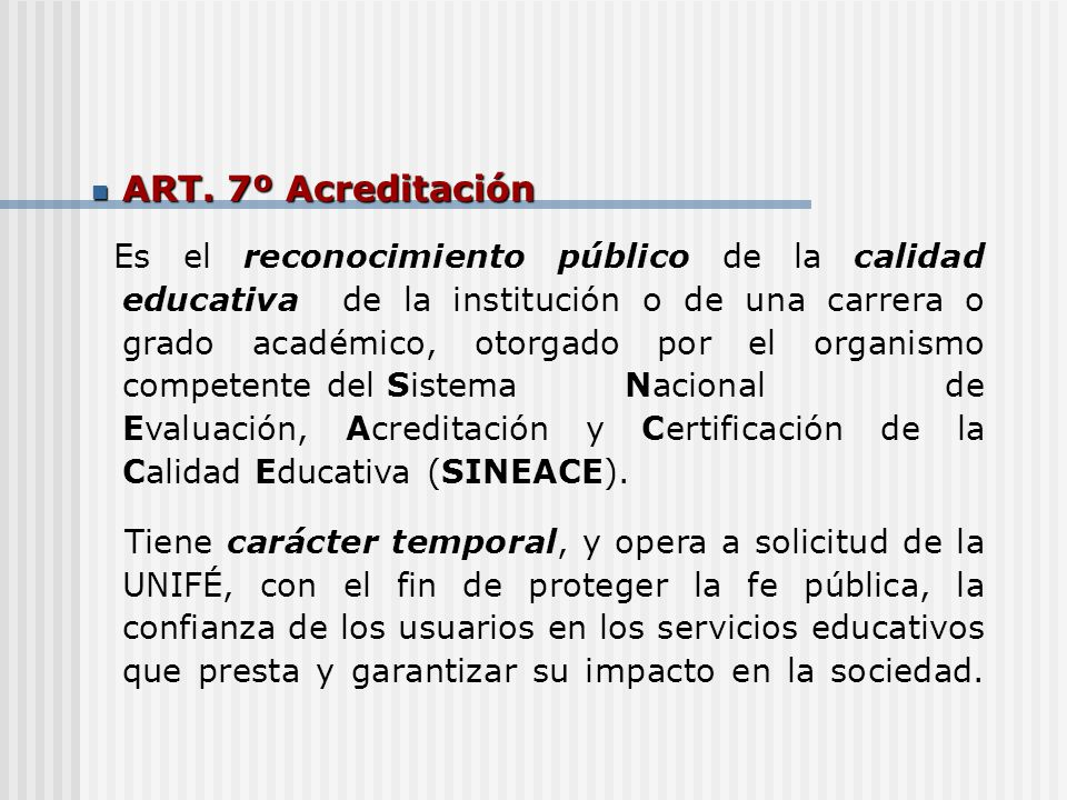 ART.7º Acreditación ART.