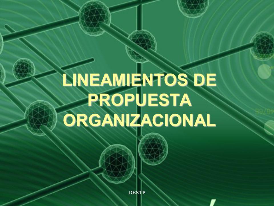DESTP LINEAMIENTOS DE PROPUESTA ORGANIZACIONAL