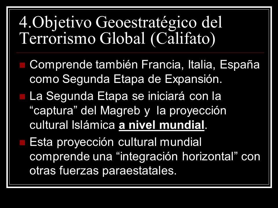 Comprende también Francia, Italia, España como Segunda Etapa de Expansión. La Segunda Etapa se iniciará con la captura del Magreb y la proyección cult