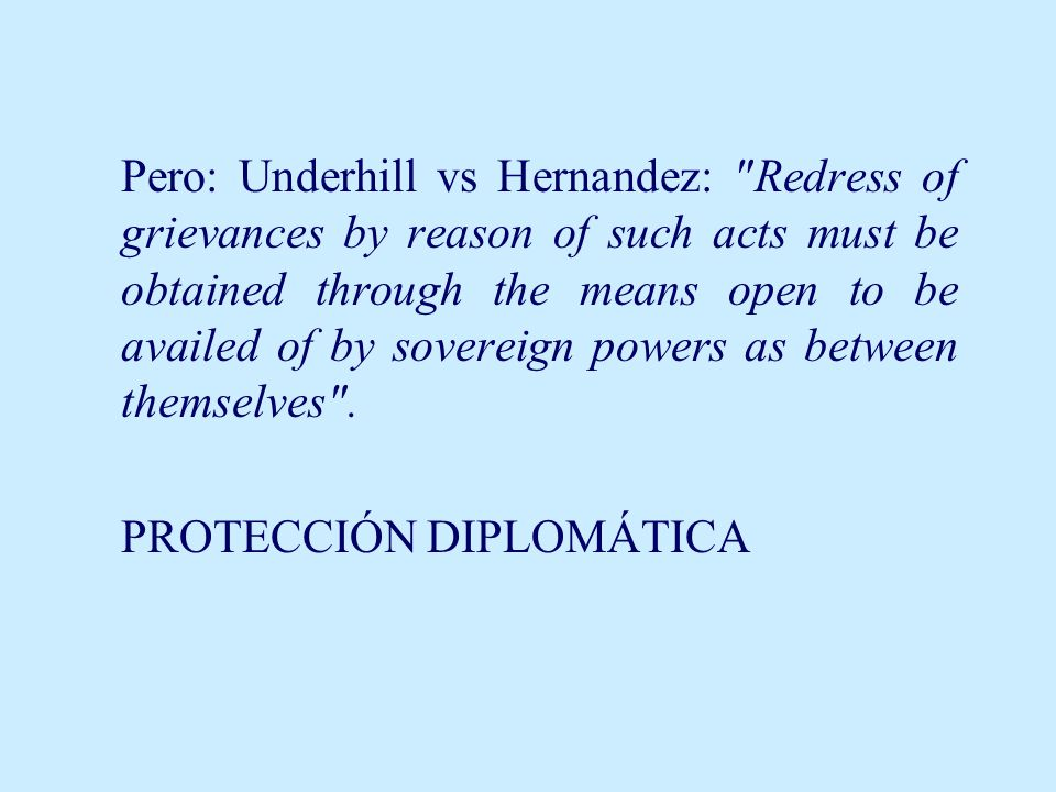 Pero: Underhill vs Hernandez: