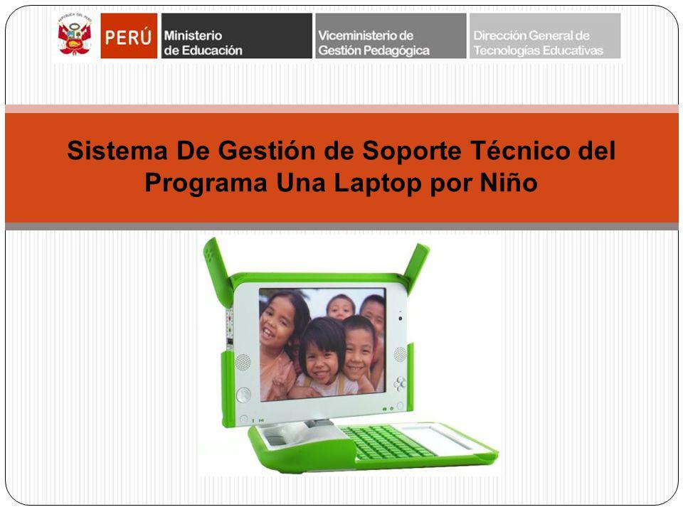 Sistema De Gestión de Soporte Técnico del Programa Una Laptop por Niño