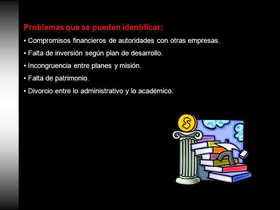 Problemas que se pueden identificar: Compromisos financieros de autoridades con otras empresas.
