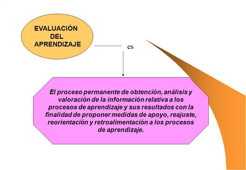 El proceso permanente de obtención, análisis y valoración de la información relativa a los procesos de aprendizaje y sus resultados con la finalidad d