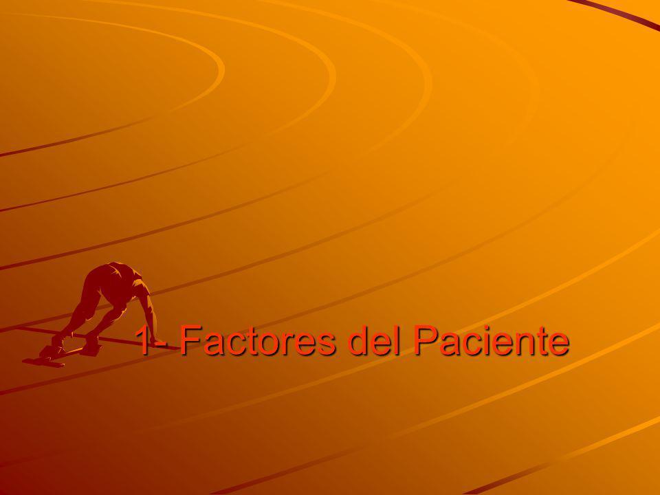 1- Factores del Paciente