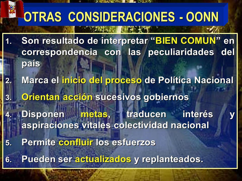 OTRAS CONSIDERACIONES - OONN 1.