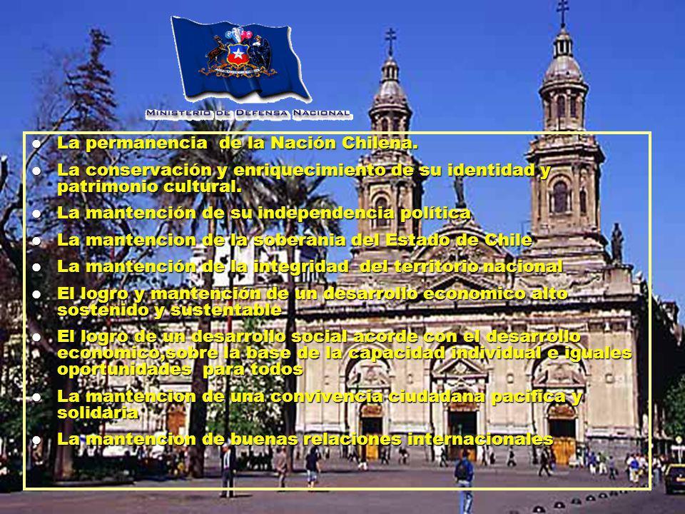 La permanencia de la Nación Chilena. La permanencia de la Nación Chilena.