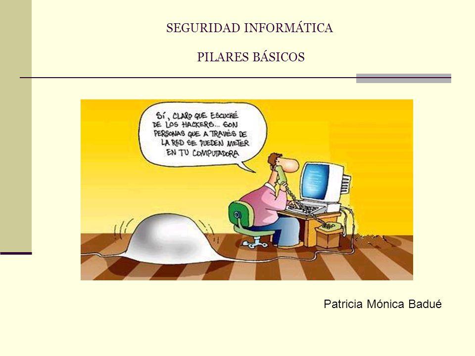 SEGURIDAD INFORMÁTICA PILARES BÁSICOS Patricia Mónica Badué