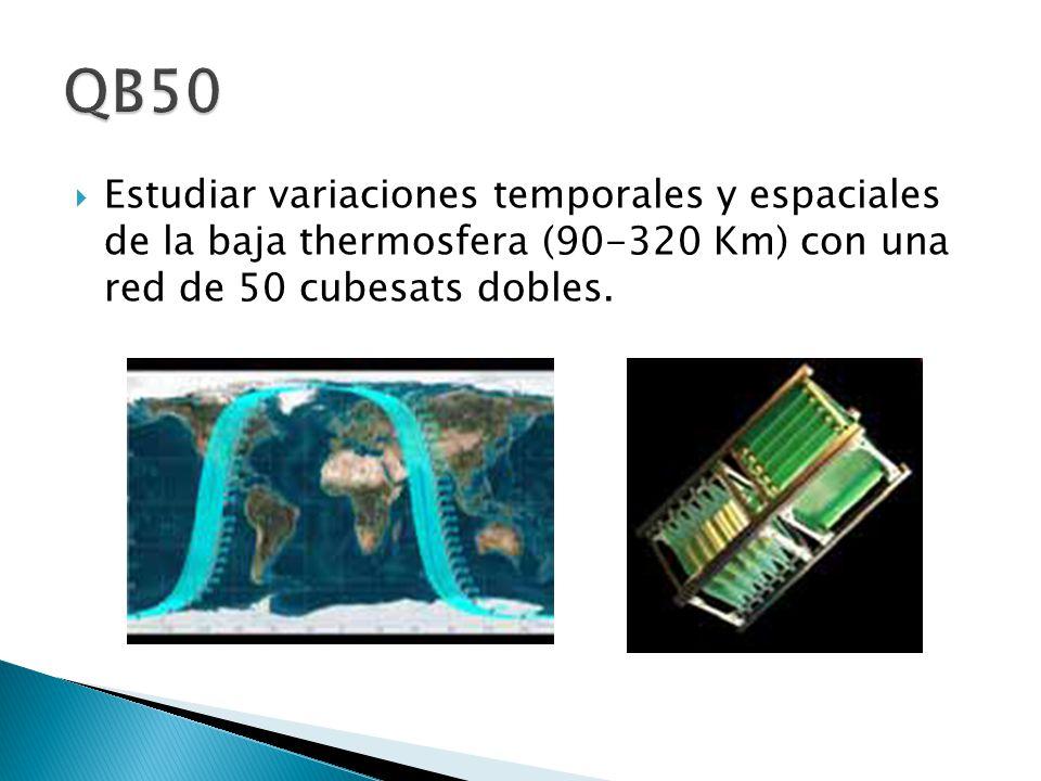 Estudiar variaciones temporales y espaciales de la baja thermosfera (90-320 Km) con una red de 50 cubesats dobles.