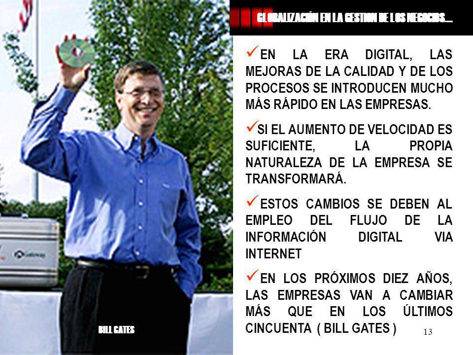 Mag GEO Augusto JAVES SANCHEZ 13 EN LA ERA DIGITAL, LAS MEJORAS DE LA CALIDAD Y DE LOS PROCESOS SE INTRODUCEN MUCHO MÁS RÁPIDO EN LAS EMPRESAS. SI EL