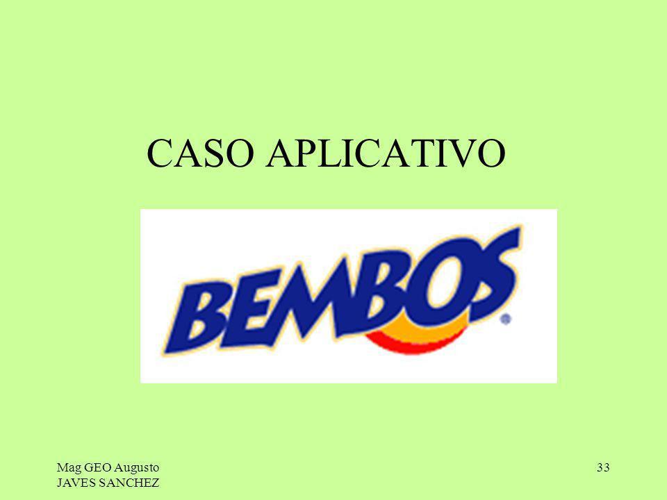 Mag GEO Augusto JAVES SANCHEZ 33 CASO APLICATIVO