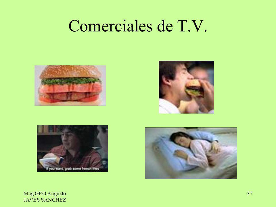Mag GEO Augusto JAVES SANCHEZ 37 Comerciales de T.V.