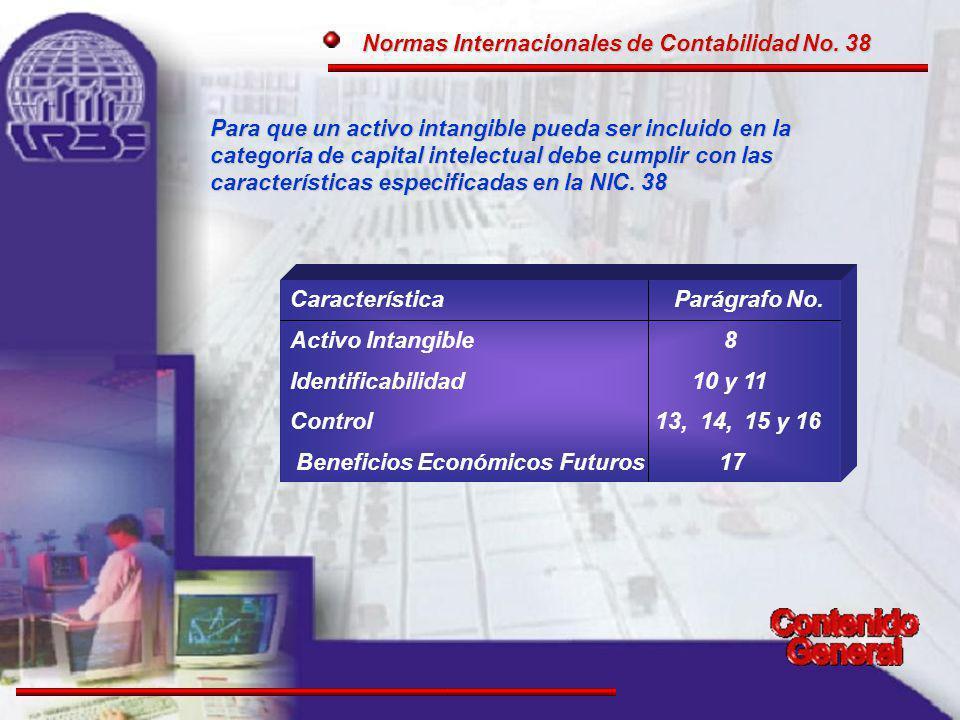 Normas Internacionales de Contabilidad No.38 Normas Internacionales de Contabilidad No.