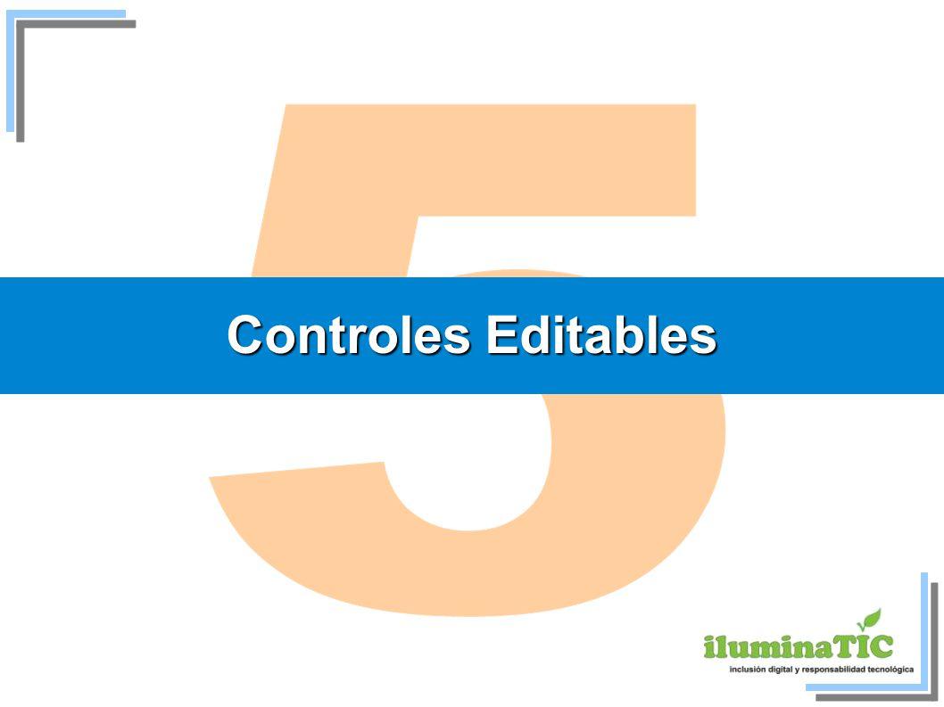 Controles Editables