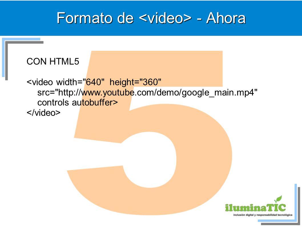 Formato de - Ahora CON HTML5