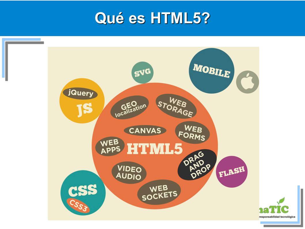 Qué es HTML5?