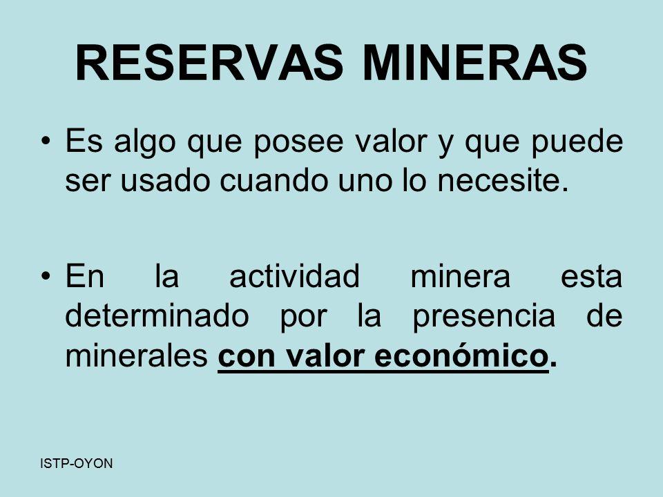 Identificación de yacimiento mineral Los minerales están distribuidos en forma desigual en la corteza terrestre.