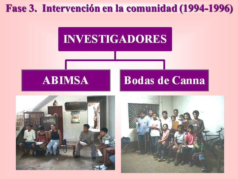 Fase 3. Intervención en la comunidad (1994-1996)
