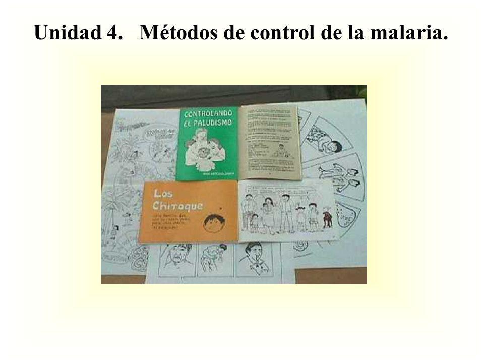 Unidad 4. Métodos de control de la malaria.