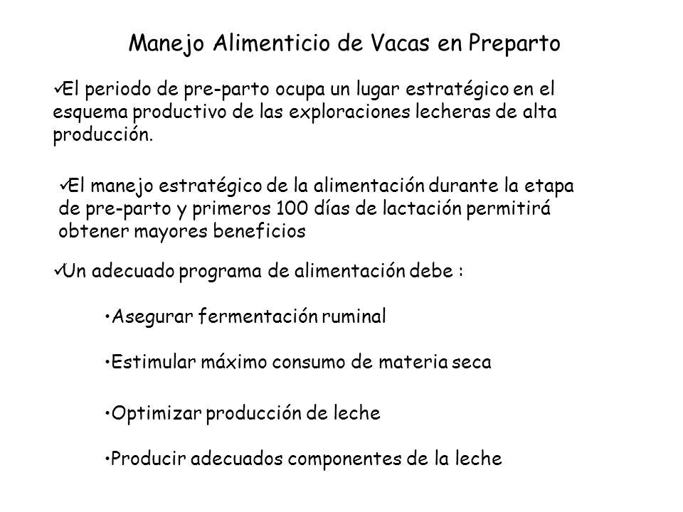 El periodo de pre-parto ocupa un lugar estratégico en el esquema productivo de las exploraciones lecheras de alta producción.