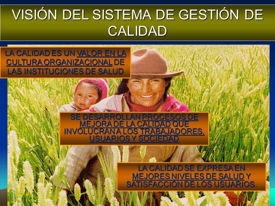 LA CALIDAD ES UN VALOR EN LA CULTURA ORGANIZACIONAL DE LAS INSTITUCIONES DE SALUD SE DESARROLLAN PROCESOS DE MEJORA DE LA CALIDAD QUE INVOLUCRAN A LOS