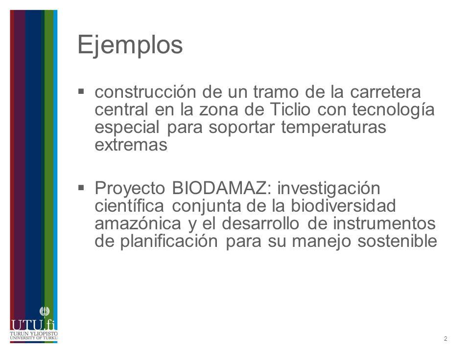 2 Ejemplos construcción de un tramo de la carretera central en la zona de Ticlio con tecnología especial para soportar temperaturas extremas Proyecto