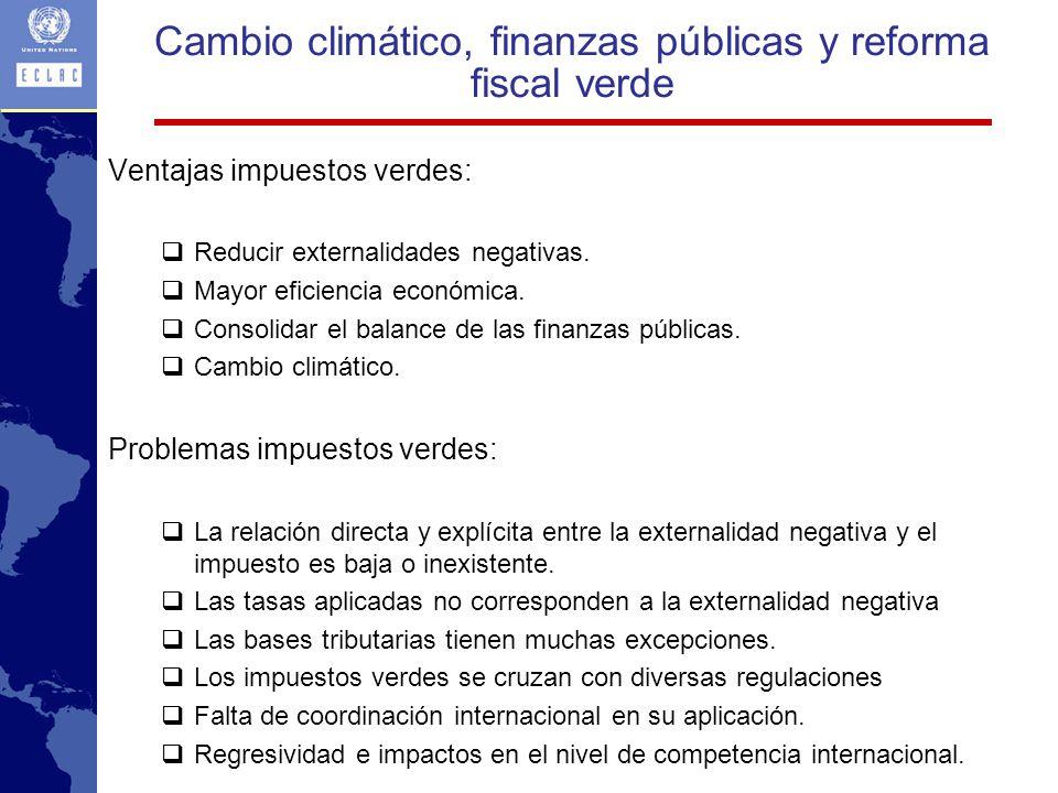 Ventajas impuestos verdes: Reducir externalidades negativas.