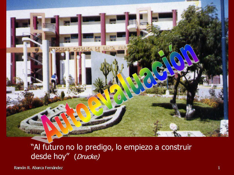 Ramón R. Abarca Fernández1 Al futuro no lo predigo, lo empiezo a construir desde hoy (Drucke)