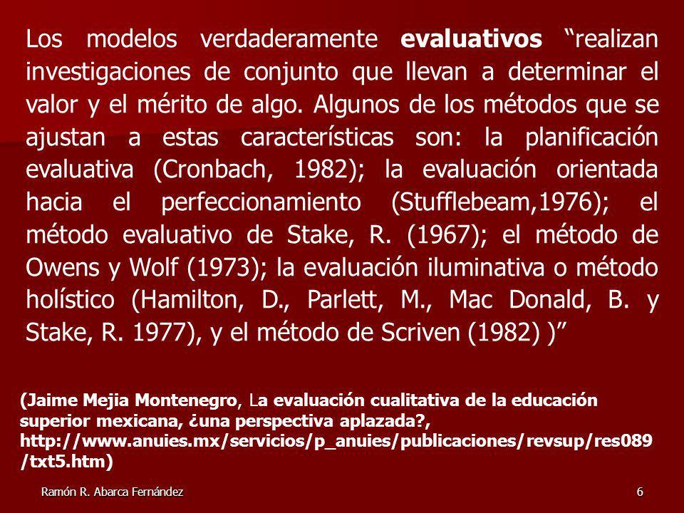 Ramón R.Abarca Fernández7 1. Programa Académico 5.