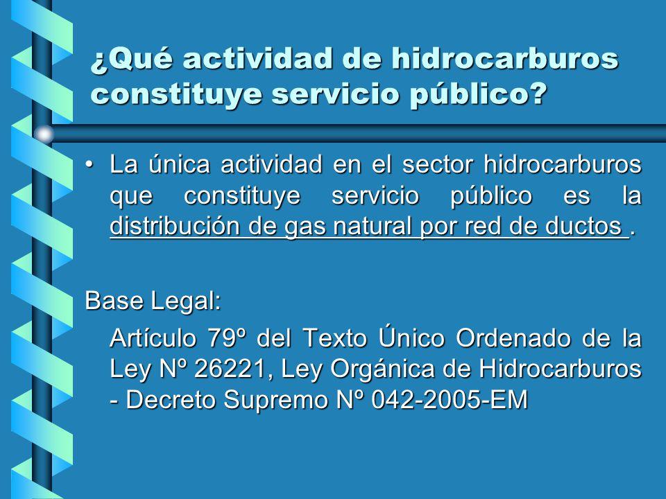 ¿Qué actividad de hidrocarburos constituye servicio público.