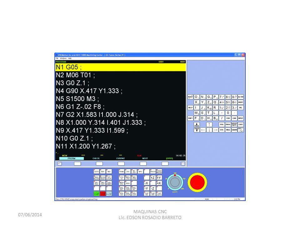MAQUINAS CNC Las máquinas herramientas comandadas por control numérico computarizado, constan de un cerebro, llamado Unidad de Gobierno, que es el ordenador.